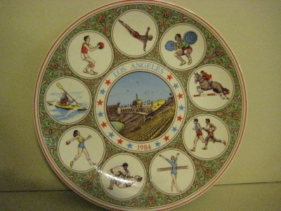 Furniture Warehouse  Angeles on Wedgwood 1984 Los Angeles Olympics Plate  From England   Ebay