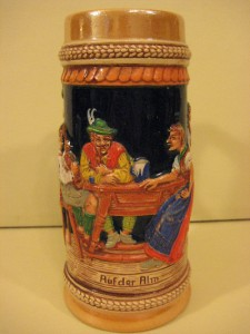 Details about old vintage gerz west germany beer stein quot rufder alm quot