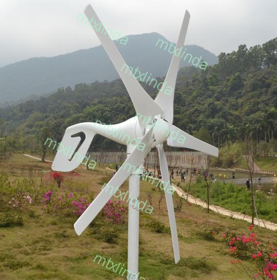 GIGU Wind Turbine Generator Kit 550W Max 3-phase AC PM 12V/24V Alternator NEW