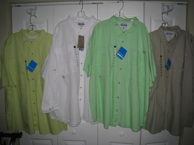 Columbia-NEW-Bonehead-Short-Sleeve-PFG-Fishing-Shirt-BIG-amp-TALL-Multiple-COLORS