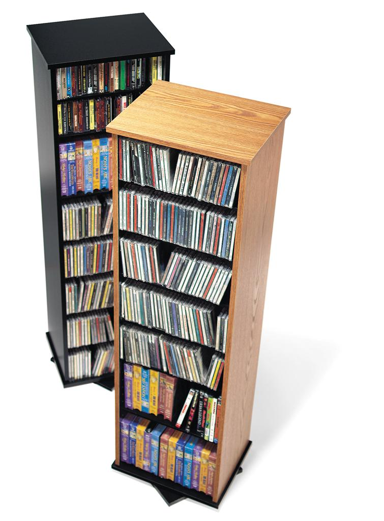 Dvd cd video spinning tower black storage holder rack ebay - Cd storage rack tower ...