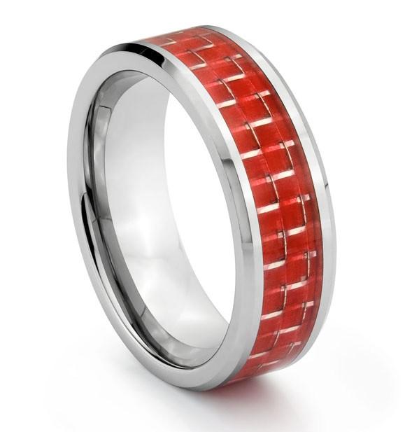 28 latest red wedding rings for men men s tungsten carbide
