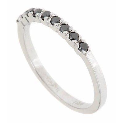 Details about 0.25ct Women's Black Diamond Wedding Band Ring 10k Gold