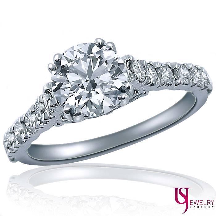Vintage Round Cut 1.83 Carat Raised Diamond Engagement