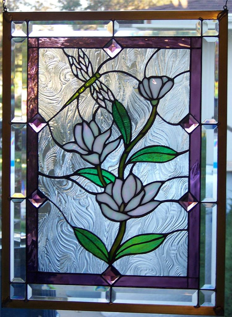 Stained glass window hanging Etsy