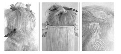 Silver Grey Clip In Hair Extensions 103