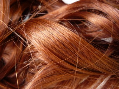 hair extensions copper red wavy 24 ins 190 grms ex l