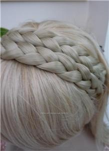 Plaited Braid Chunky Hair Headband Nordic Light Ash Blonde