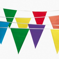 Feet Foot Ft MULTI COLOR FLAG BANNER PENNANT PARTY SUPPLY DECOR