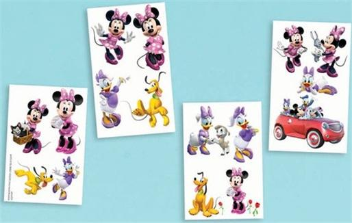 Pin sheet of 16 disney minnie mickey mouse temporary for Disney temporary tattoos mickey mouse