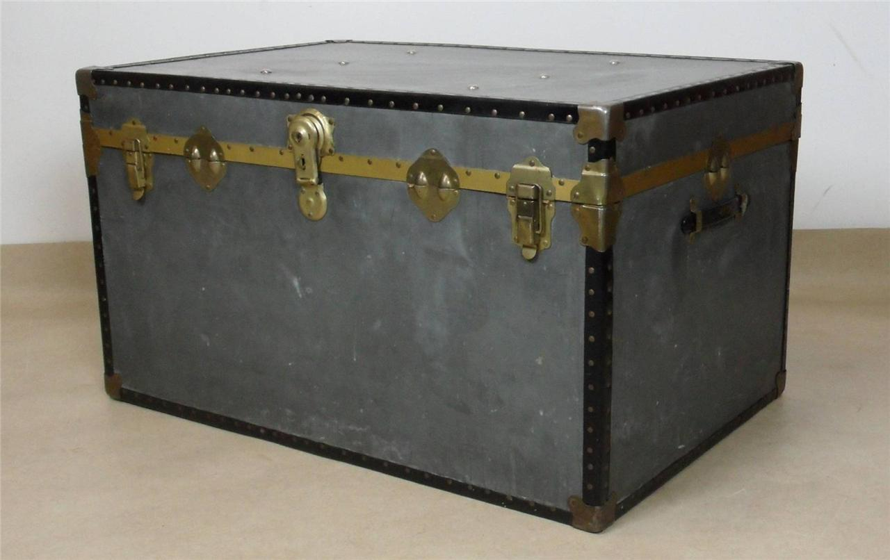large vintage shipping trunk coffee table ebay