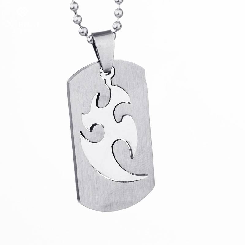 Silver Metal Stainless Steel Dog tag Cross SKULL Dragon Necklace Pendant w Chain