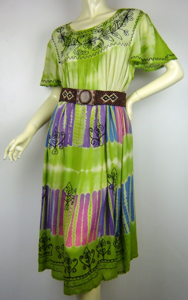 Plus Size Baby Doll Tie Dye FESTIVAL Short Dress Size 18
