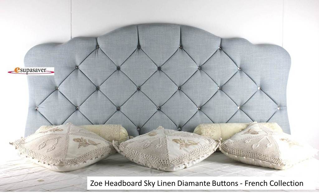 zoe headboard linen all sizes  colours esupasaver huge sale, Headboard designs