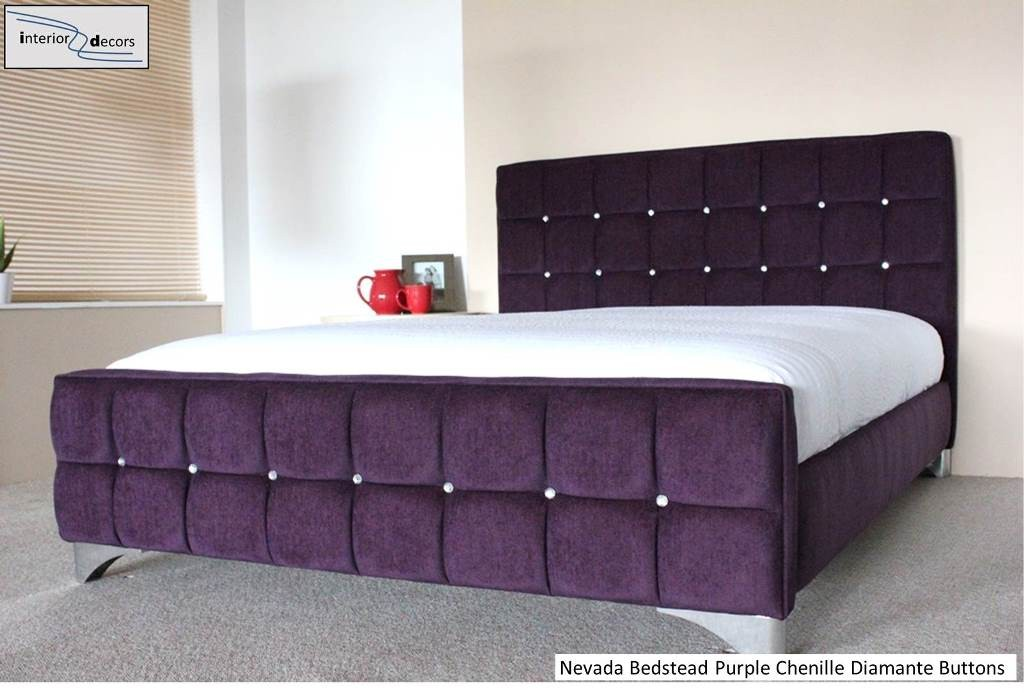 Nevada Bed Frame Upholstered Chenille All Colours Amp Sizes