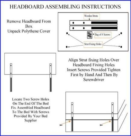 Headboard Assembling Instructions