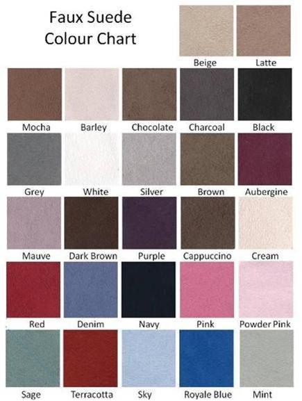 faux Suede Colours