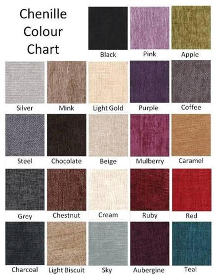 Chenille Colour Sample
