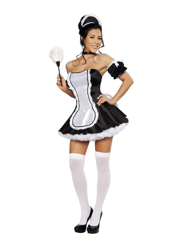 French Woman Halloween Costume Sexy At Your Service F...