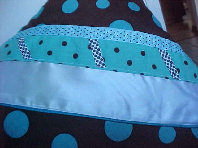 10p FULL Polka Dot~Brown,Aqua Blue,Lime Green Comforter+Sheets+Pillow~Girl Teen