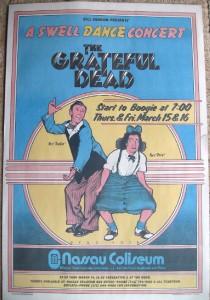 Grateful Dead   Vintage ORIGINAL 1973 Nassau Coliseum Swell Dance
