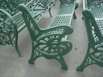 Cast Iron Garden Furniture Sale on Cast Iron Heavy Art Nouveau Garden Bench 09hsc17   Ebay