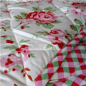ikea rosali n quilted bedspread gingham padded throw shabby chic floral blanket. Black Bedroom Furniture Sets. Home Design Ideas