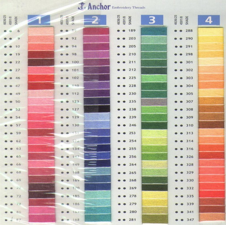 Anchor Embroidery Thread Color Chart Submited Images
