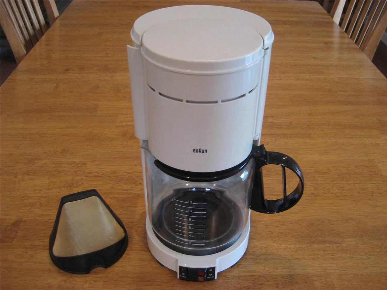 BRAUN AROMASTER 12 CUP Coffee Maker TYPE 4093 NEW GOLD FILTER Germany Excellent eBay
