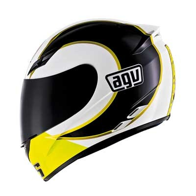 AGV-K3-Gothic-46-White-Roadbike-Motorbike-Motorcycle-Helmet-Ass-Adult-Sizes