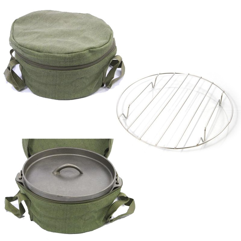 Cast-Iron-Dutch-Camp-Oven-1-9LT-2QT-with-Storage-Bag-FREE-Trivet-Package