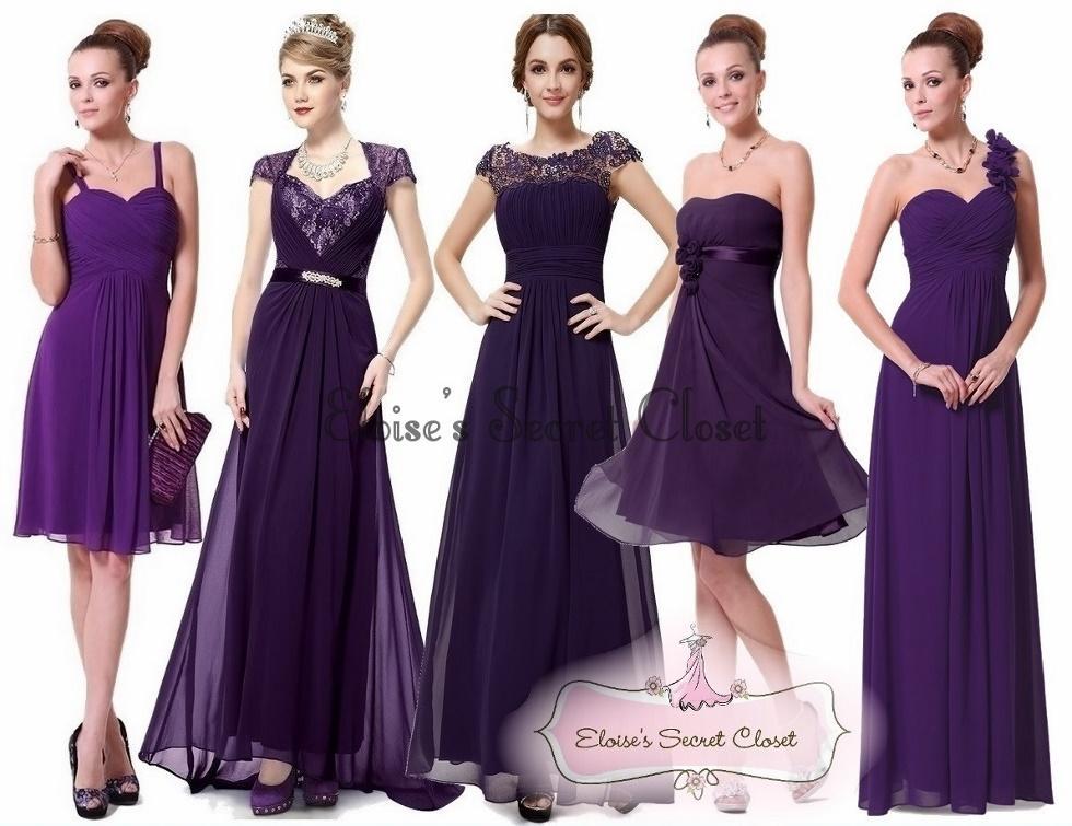 Black Bridesmaid Dresses Debenhams : Bnwt amy violet purple chiffon prom evening bridesmaid