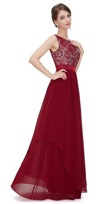 Red maxi evening dresses uk