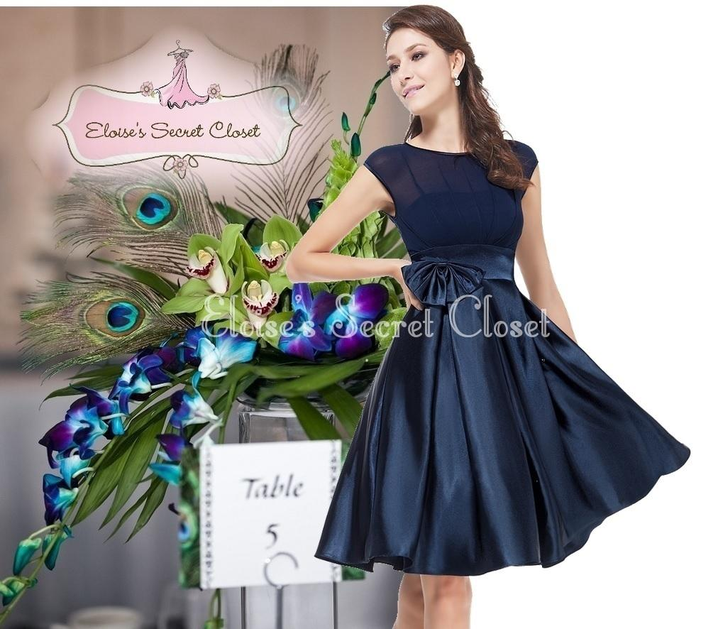 Navy Bridesmaid Dresses Size 18