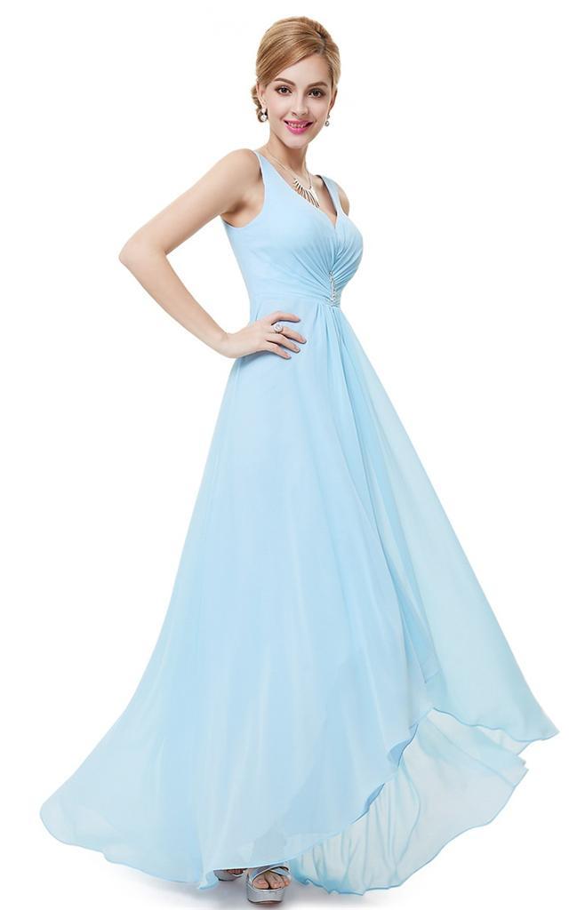 Blue wedding dress size 18 : Bnwt cerys baby blue pale chiffon prom bridesmaid