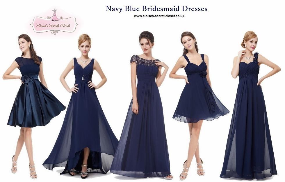 Navy Blue Vintage Bridesmaid Dresses   Wedding Gallery