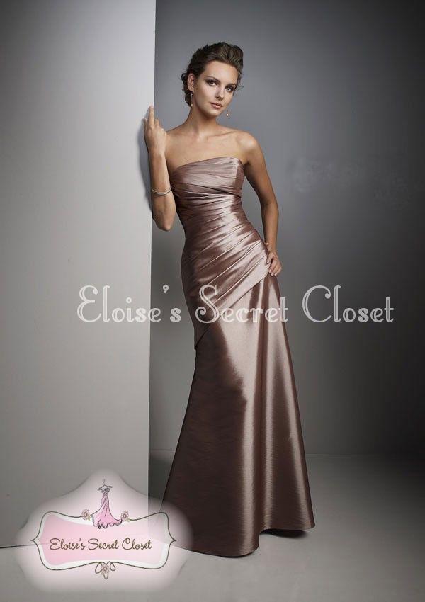 Mocha evening dress uk