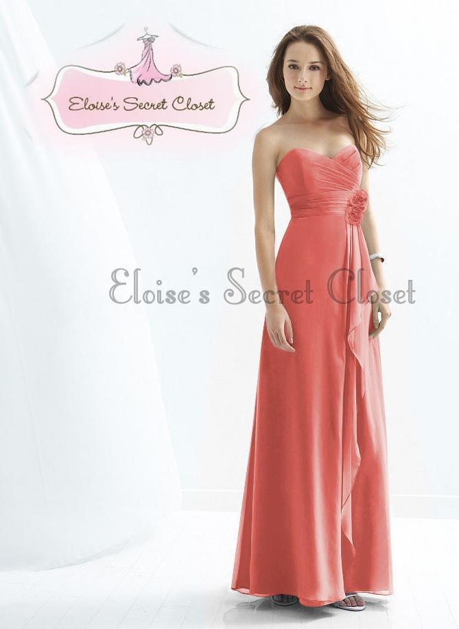 Coral Bridesmaid Dresses Uk Ebay 57