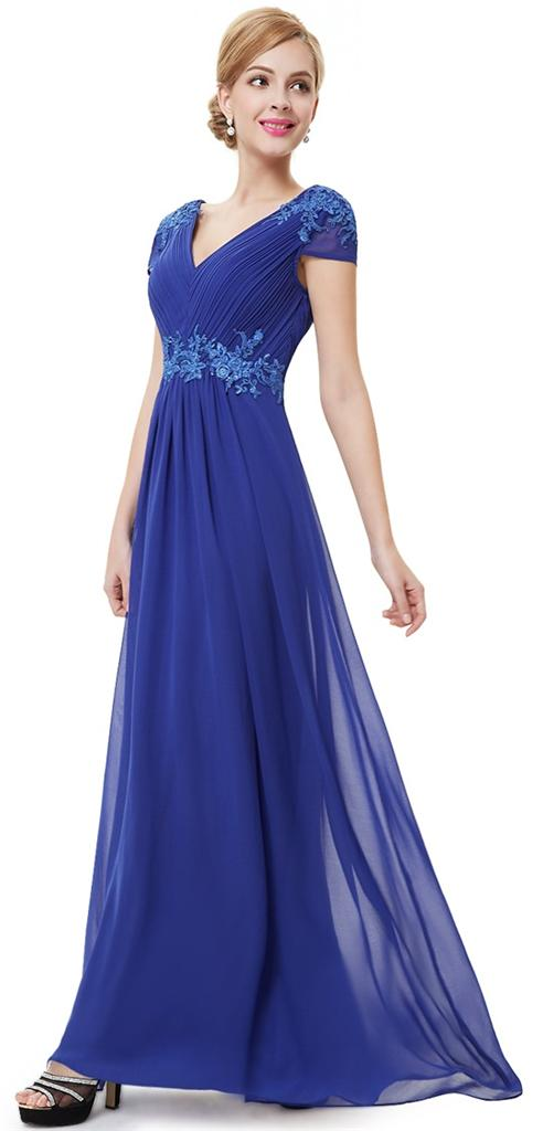 BREE Cobalt Blue Full Length Prom Evening Cruise ...