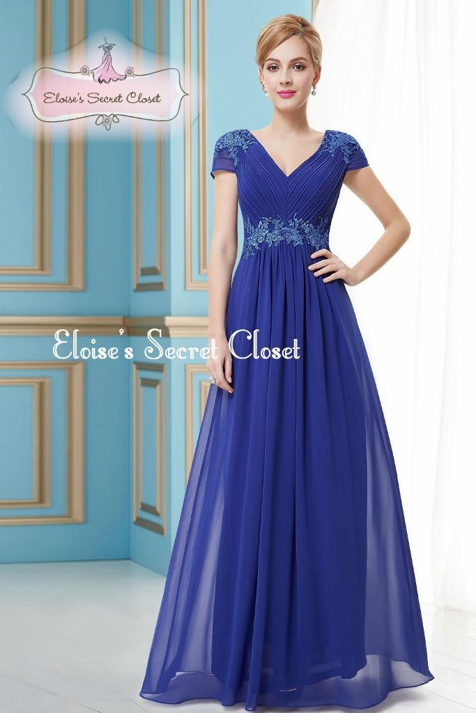 Bree cobalt blue full length prom evening cruise for Wedding dresses for cruise ship
