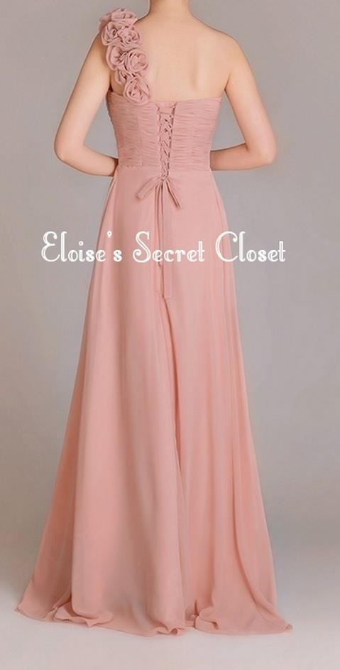 asha dusky pink corsage chiffon maxi abi abend. Black Bedroom Furniture Sets. Home Design Ideas