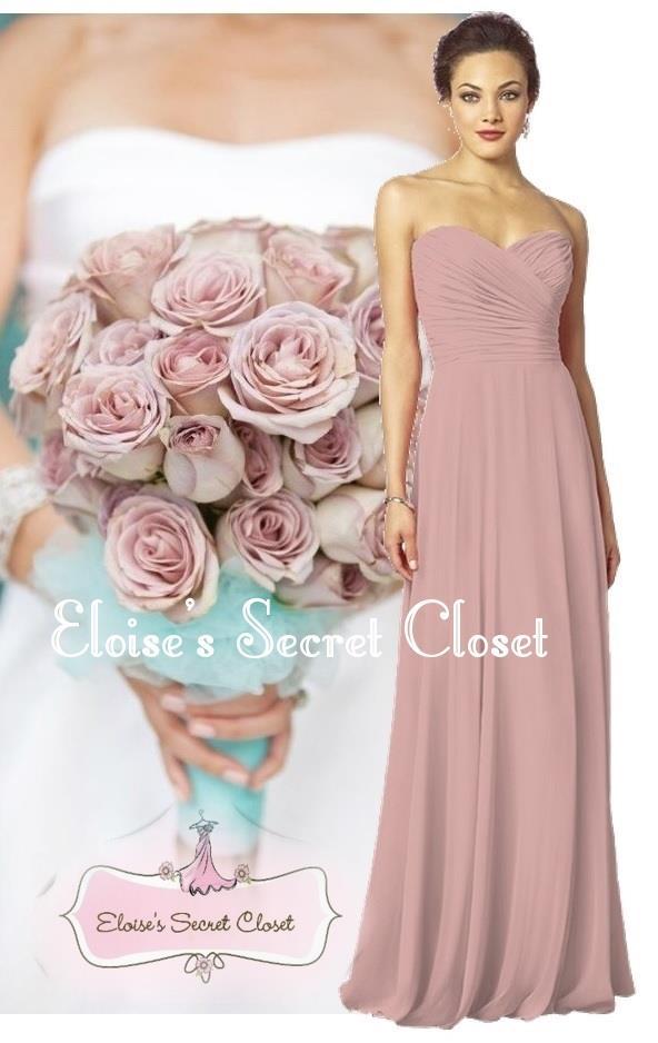 Funky Dusky Pink Bridesmaids Dresses Mold - Wedding Dress Ideas ...