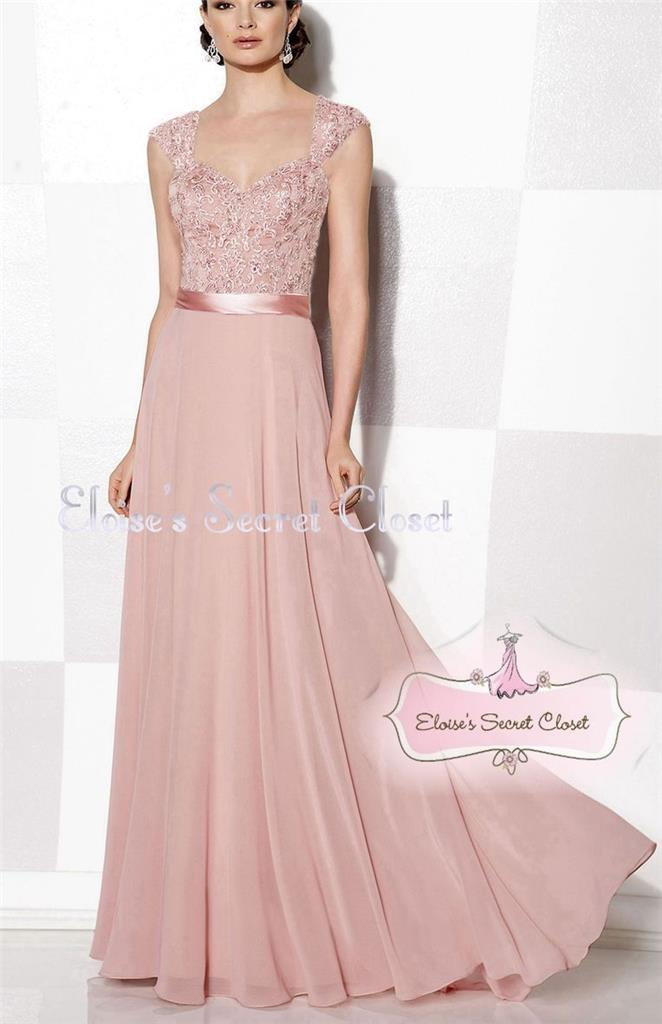 Riva dusky pink lace bead chiffon maxi bridesmaid ballgown for Dusky pink wedding dress