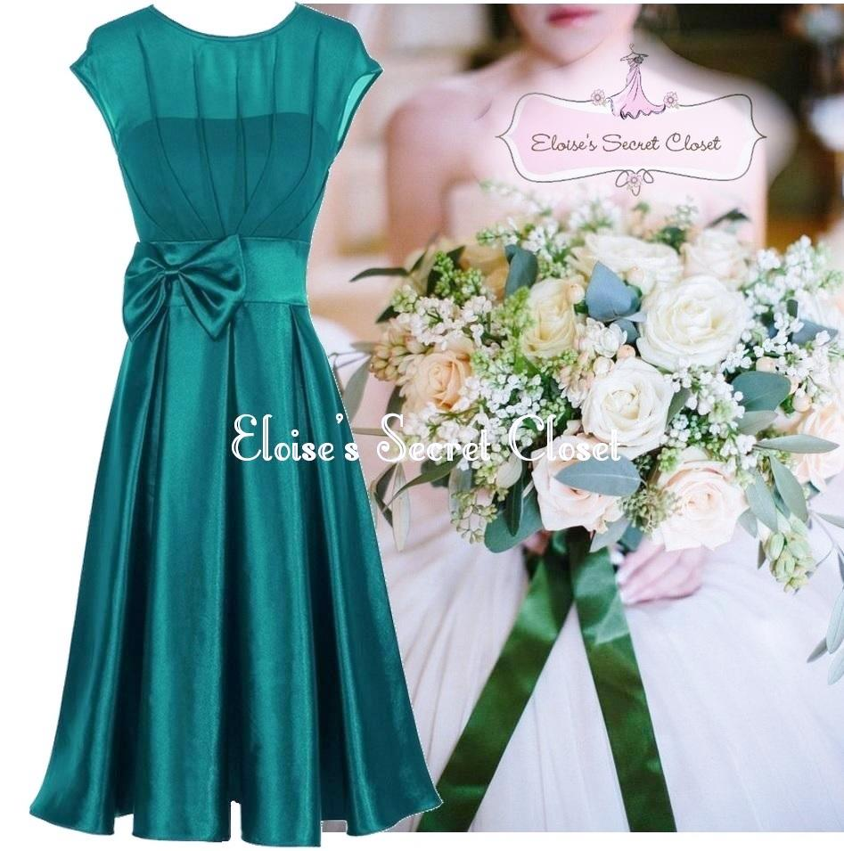 hepburn jade green 50 39 s vintage inspired prom bridesmaid