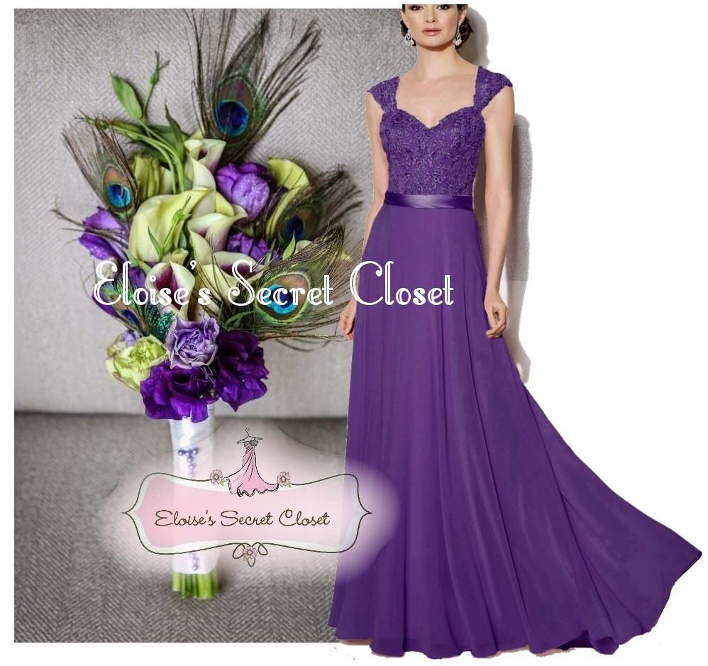 Riva cadbury purple lace chiffon maxi bridesmaid ballgown dress riva cadbury purple lace chiffon maxi bridesmaid ballgown dress sizes uk 6 18 ebay ombrellifo Image collections