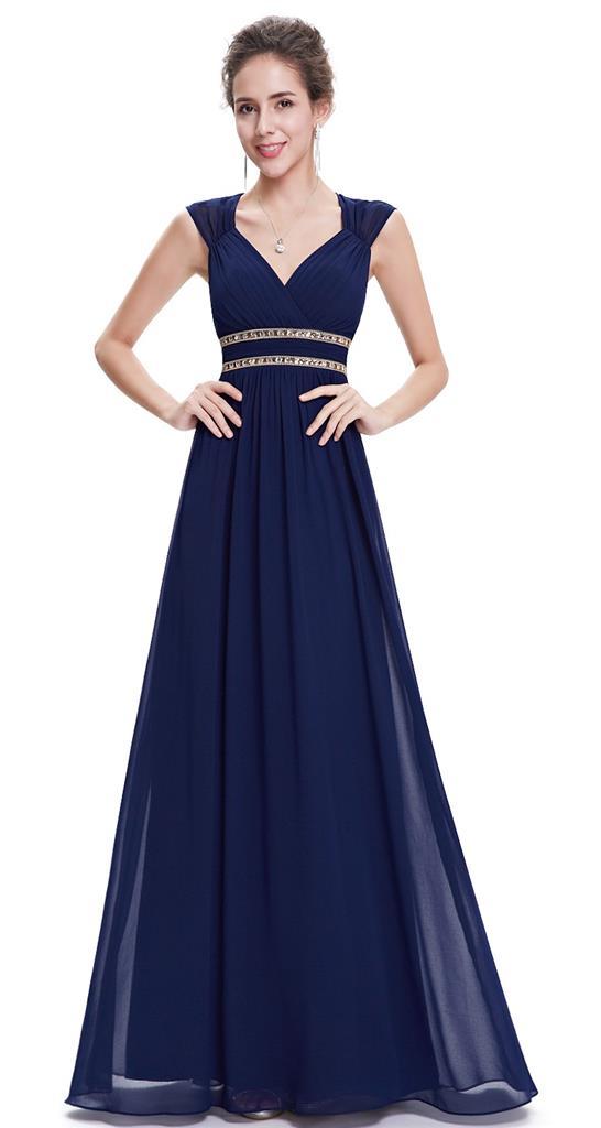 ATHENA Navy Blue Gold Beaded Grecian Evening Cruise Bridesmaid Dress - ATHENA Navy Blue Gold Beaded Grecian Evening Cruise Bridesmaid