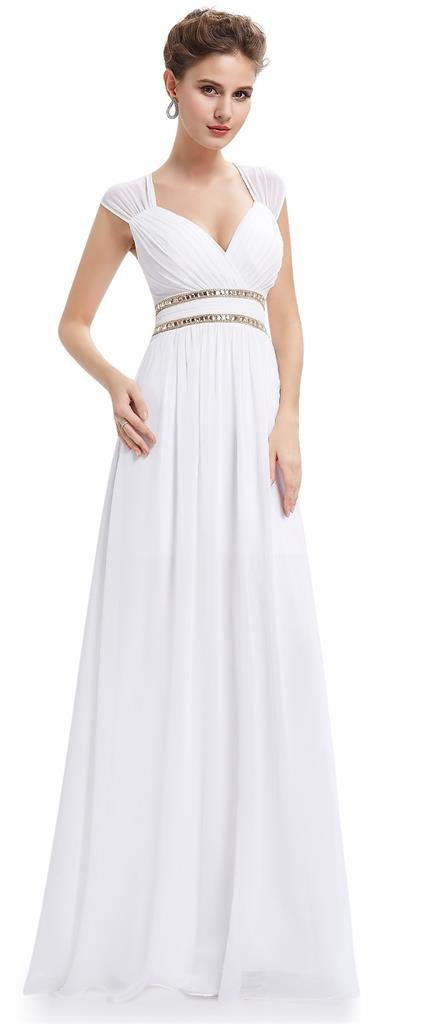 Athena white gold beaded grecian boho evening cruise for Wedding dresses for cruise ship