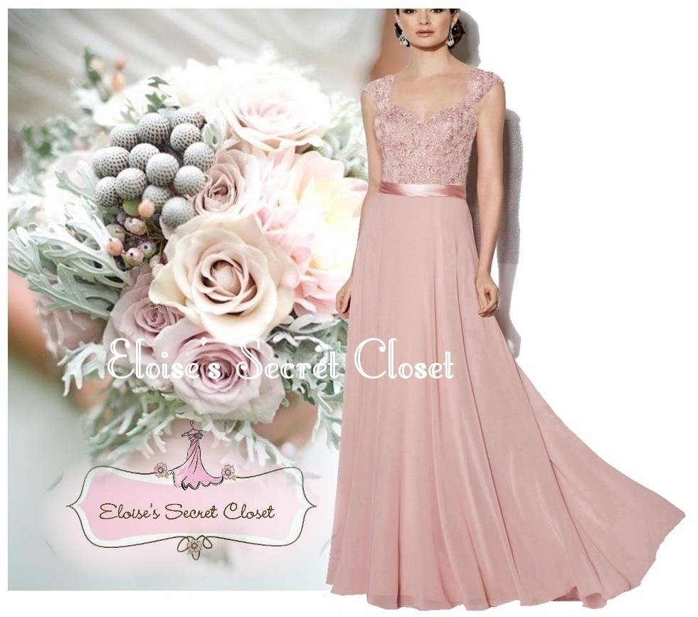 Dusky pink bridesmaid dresses chiffon cheap wedding dresses for Dusky pink wedding dress
