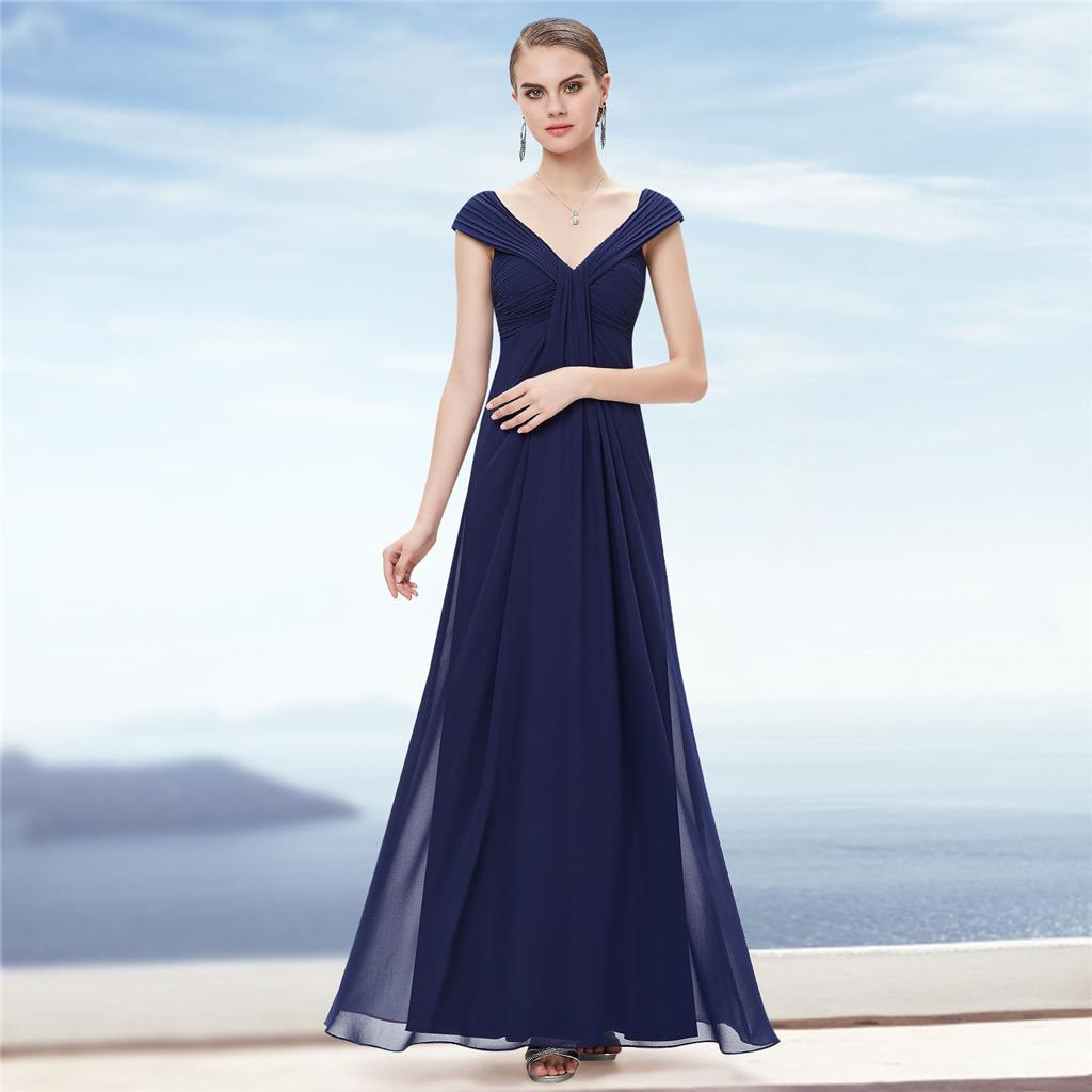 Monroe navy blue chiffon maxi prom evening bridesmaid for Navy blue maxi dress for wedding