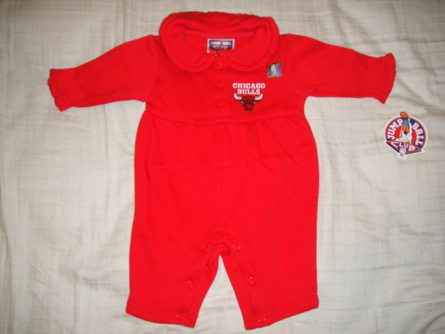Chicago Bulls Newborn Girls Infants Romper Coverall Pick